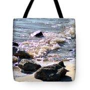 Rocks On The Bay Tote Bag