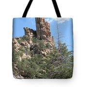 Rocks Reaching To The Sky Tote Bag