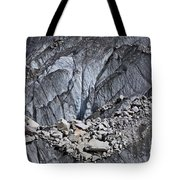 Rocks Resting On The Ghulkin Glacier Tote Bag