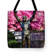 Rocky Among The Cherry Blossoms Tote Bag