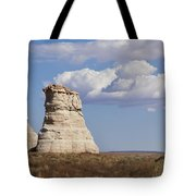 Rocky Buttes Protrude From The Middle Of Arizona Landscape Tote Bag