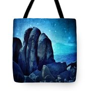 Rocky Cliff In Starlight Tote Bag
