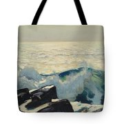 Rocky Coast And Sea Tote Bag