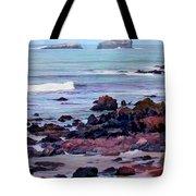 Rocky Coast Off San Simeon Tote Bag