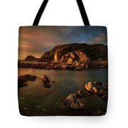 Rocky Coastline At Sunset, Point Tote Bag