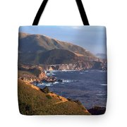 Rocky Creek Bridge In Big Sur Tote Bag by Charlene Mitchell