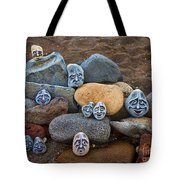 Rocky Faces In The Sand Tote Bag