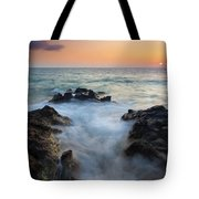 Rocky Inlet Sunset Tote Bag by Mike  Dawson
