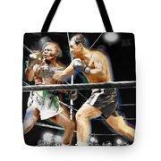 Rocky Marciano V Jersey Joe Walcott Tote Bag