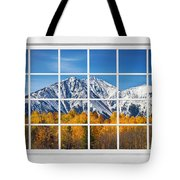 Rocky Mountain Autumn High White Picture Window Tote Bag