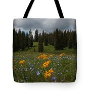 Rocky Mountain Bloom Tote Bag