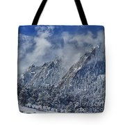Rocky Mountain Dusting Of Snow Boulder Colorado Tote Bag