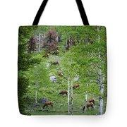 Rocky Mountain Elk Herd Tote Bag