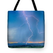 Rocky Mountain Foothills Lightning Strikes 2 Hdr Tote Bag