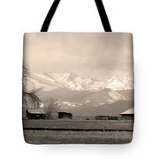 Rocky Mountain Lafayette Sepia Views Tote Bag