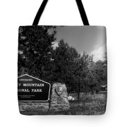 Rocky Mountain National Park Signage Tote Bag