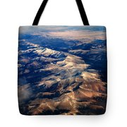 Rocky Mountain Peaks From Above Tote Bag