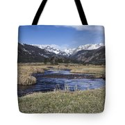 Rocky Mountain Stream Wide Angle Tote Bag