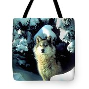 Rocky Mountain Wolf Tote Bag