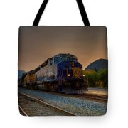 Rocky Mountaineer Sunrise Tote Bag