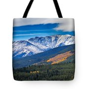 Rocky Mountains Independence Pass Tote Bag