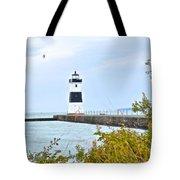 Rocky River Pier Tote Bag