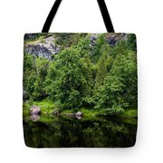 Rocky River Reflection Tote Bag