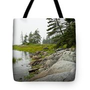 Rocky Shore By The Narrows To Mount Desert Island Tote Bag