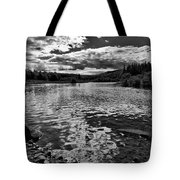 Rocky Shore Of The Moose River Tote Bag