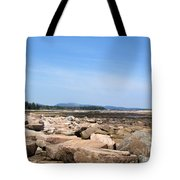 Rocky Shore To Rocky Mountain Tote Bag