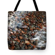 Rocky Shoreline Abstract Tote Bag