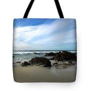 Rocky Shoreline At Spanish Bay Tote Bag