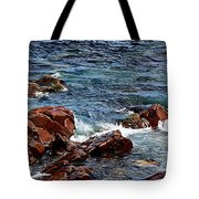 Rocky Shoreline - Coast -  Painterly Effects -  Panorama Tote Bag