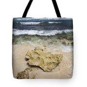 Rocky Shoreline In Tulum Tote Bag