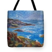 Rocky Shores Of Maine Tote Bag