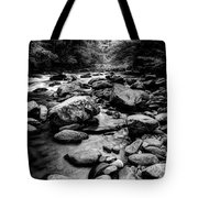 Rocky Smoky Mountain River Tote Bag