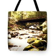 Rocky Stream With Bridge Tote Bag