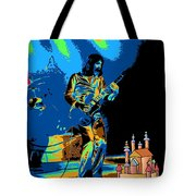 R P  And The Ufo At The Castle Made Of Sand Tote Bag