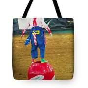 Rodeo Barrel Clown Tote Bag