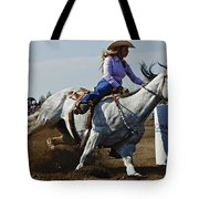 Rodeo Barrel Racer Tote Bag