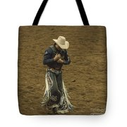 Rodeo Cowboy Dusting Off Tote Bag