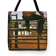 Rodeo Fence Sitters- Warm Toned Tote Bag