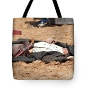 Rodeo Gunslinger Victim Color Tote Bag