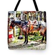 Rodeo Horse Three Tote Bag