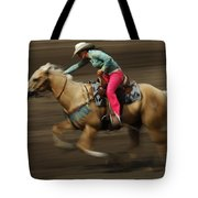 Rodeo Riding A Hurricane 2 Tote Bag