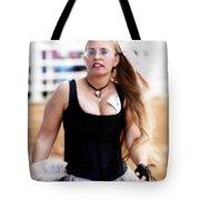Rodeo Saloon Girl Dancing Tote Bag