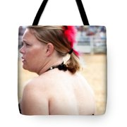 Rodeo Saloon Girl Profile Tote Bag