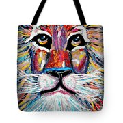 Rodney Abstract Lion Tote Bag