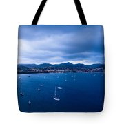 Rodney Bay Morning Blues Tote Bag