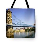 Roebling Bridge In Cincinnati Ohio Tote Bag